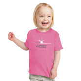 Toddler Fuchsia T Shirt-Trijet Craft Stacked - Falcon 900, Falcon 900EX, Falcon 50EX