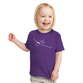 Toddler Purple T Shirt-Sketch Jet