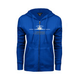 ENZA Ladies Royal Fleece Full Zip Hoodie-Trijet Craft Stacked - Falcon 900, Falcon 900EX, Falcon 50EX