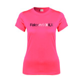 Ladies Performance Hot Pink Tee-Falcon 900LX Foil