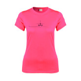 Ladies Performance Hot Pink Tee-Falcon 900LX Craft Foil