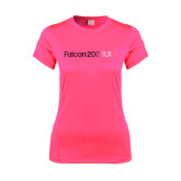 Ladies Performance Hot Pink Tee-Falcon 2000LXS Foil