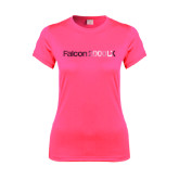 Ladies Performance Hot Pink Tee-Falcon 2000LX Foil