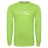 Lime Green Long Sleeve T Shirt-Dassault Falcon