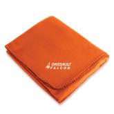Orange Arctic Fleece Blanket-Dassault Falcon