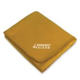 Gold Arctic Fleece Blanket-Dassault Falcon