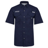 Columbia Bonehead Navy Short Sleeve Shirt-Dassault Falcon