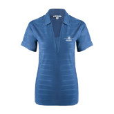 Ladies Indigo Blue Horizontal Textured Polo-Trijet Craft Stacked - Falcon 900, Falcon 900EX, Falcon 50EX