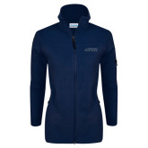 Columbia Ladies Full Zip Navy Fleece Jacket-Dassault Falcon