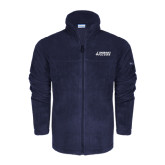 Columbia Full Zip Navy Fleece Jacket-Dassault Falcon