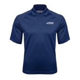 Navy Textured Saddle Shoulder Polo-Dassault Falcon