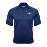 Navy Textured Saddle Shoulder Polo-Trijet Craft Stacked - Falcon 900