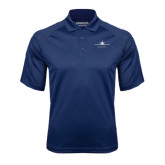 Navy Textured Saddle Shoulder Polo-Twinjet Craft Stacked - Falcon 2000, Falcon 2000EX