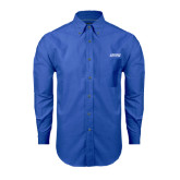 Mens Royal Oxford Long Sleeve Shirt-Dassault Falcon