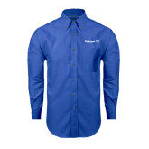 Mens Royal Oxford Long Sleeve Shirt-Falcon 7X