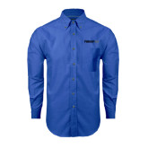 Mens Royal Oxford Long Sleeve Shirt-Falcon 8X