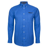 Mens Royal Oxford Long Sleeve Shirt-Falcon 6X