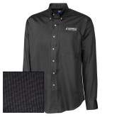 Cutter & Buck Black Nailshead Long Sleeve Shirt-Dassault Aircraft Services