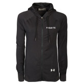Ladies Under Armour Black Varsity Full Zip Hoodie-Falcon 7X