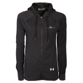 Ladies Under Armour Black Varsity Full Zip Hoodie-Falcon 7X Craft