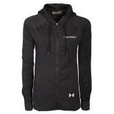Ladies Under Armour Black Varsity Full Zip Hoodie-Falcon 2000LXS
