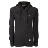 Ladies Under Armour Black Varsity Full Zip Hoodie-Falcon 900LX Craft
