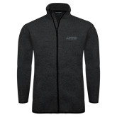 Black Heather Fleece Jacket-Dassault Falcon