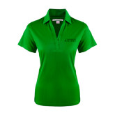 Ladies Kelly Green Performance Fine Jacquard Polo-Dassault Falcon