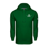 Under Armour Dark Green Performance Sweats Team Hoodie-Trijet Craft Stacked - Falcon 900, Falcon 900EX, Falcon 50EX