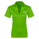 Ladies Lime Green Silk Touch Performance Polo-Dassault Falcon