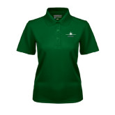 Ladies Dark Green Dry Mesh Polo-Trijet Craft Stacked - Falcon 900, Falcon 900EX, Falcon 50EX