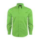 Red House Green Herringbone Long Sleeve Shirt-Dassault Falcon
