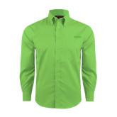 Red House Green Herringbone Long Sleeve Shirt-Dassault Falcon