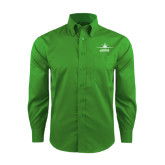 Red House Green Herringbone Long Sleeve Shirt-Trijet Craft Stacked - Falcon 900