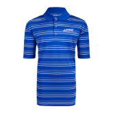 Adidas Climalite Royal Textured Stripe Polo-Dassault Falcon