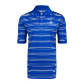 Adidas Climalite Royal Textured Stripe Polo-Trijet Craft Stacked - Falcon 900