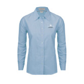 Ladies Light Blue Oxford Shirt-Trijet Craft Stacked - Falcon 900, Falcon 900EX, Falcon 50EX
