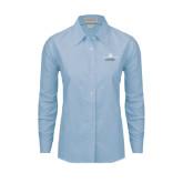 Ladies Light Blue Oxford Shirt-Trijet Craft Stacked - Falcon 900, Falcon 900EX, Falcon 50EX