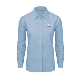 Ladies Light Blue Oxford Shirt-Twinjet Craft Stacked - Falcon 2000, Falcon 2000EX
