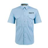 Light Blue Short Sleeve Performance Fishing Shirt-Falcon 7X