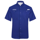 Columbia Tamiami Performance Royal Short Sleeve Shirt-Dassault Falcon