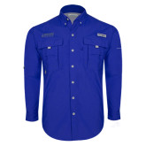 Columbia Bahama II Royal Long Sleeve Shirt-Dassault Falcon