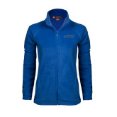 Ladies Fleece Full Zip Royal Jacket-Dassault Falcon