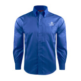 Red House French Blue Dobby Long Sleeve Shirt-Trijet Craft Stacked - Falcon 900, Falcon 900EX, Falcon 50EX