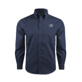 Red House Deep Blue Herringbone Long Sleeve Shirt-Twinjet Craft Stacked - Falcon 2000, Falcon 2000EX