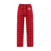 Red/Black Flannel Pajama Pant-Trijet Craft Stacked - Falcon 900, Falcon 900EX, Falcon 50EX
