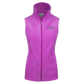 Columbia Ladies Full Zip Lilac Fleece Vest-Dassault Falcon