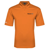 Orange Performance Fine Jacquard Polo-Falcon 8X