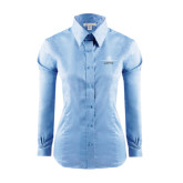 Ladies Red House Light Blue Long Sleeve Shirt-Trijet Craft Stacked - Falcon 900, Falcon 900EX, Falcon 50EX