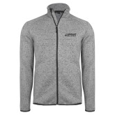 Grey Heather Fleece Jacket-Dassault Falcon